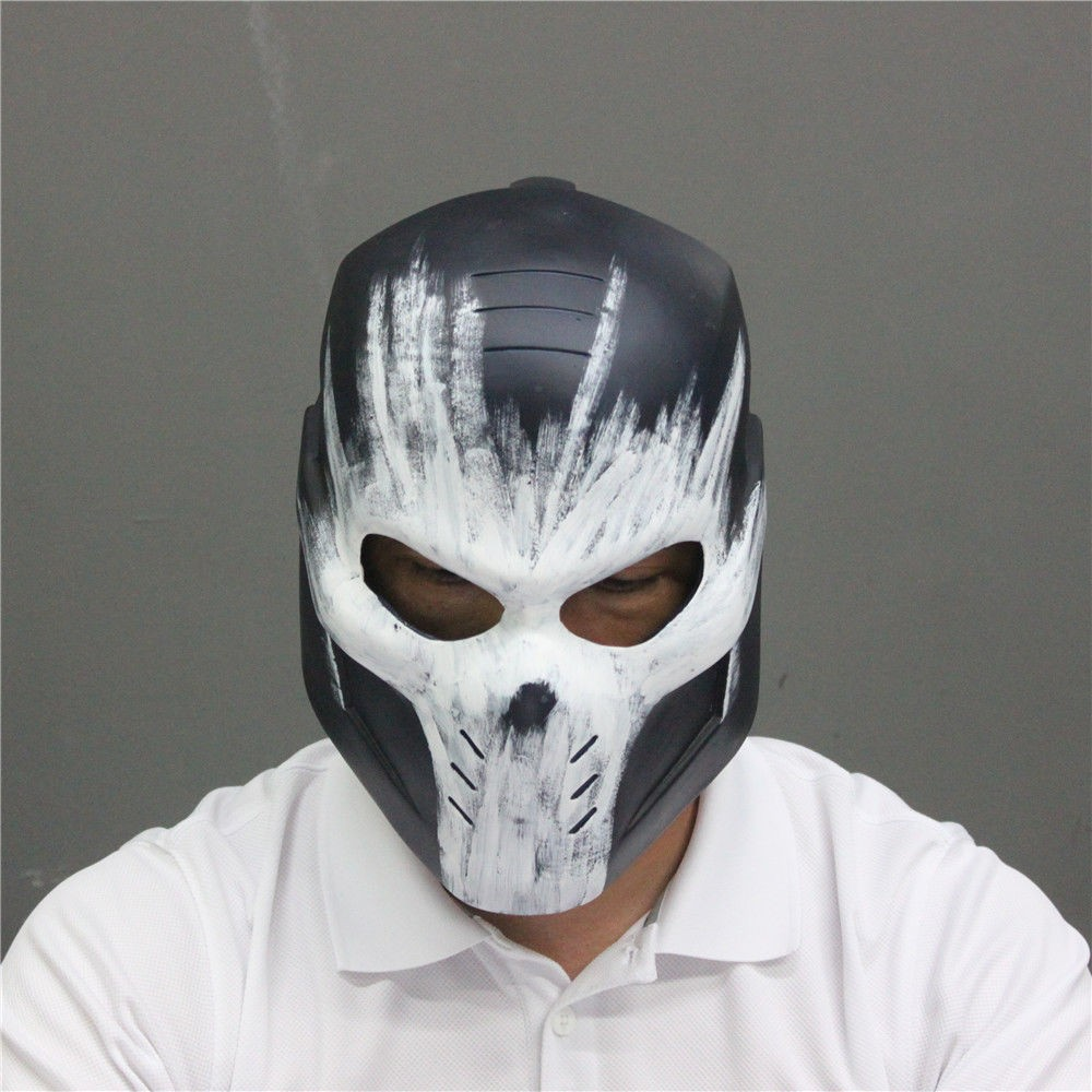 2016 Movie Captain America 3 Cosplay Crossbones Helmet PVC Halloween Brock Rumlow Cosplay Helmet Party