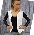 Новый женский тонкий искусственная кожа свободного покроя почтовый длинным рукавом шикарный стильный топ блузка пиджаки куртка куртка европы тощие девушки куртки