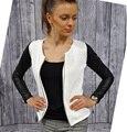 Novo mulheres de Slim PU couro Casual Zip manga comprida Chic Stylish Top blusa Outwear Parka do revestimento do revestimento europeia skinny meninas jaquetas