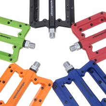Ultra-light Mountain Bike Bicycle Pedals Nylon Fiber 4 Colors Big Foot Road Bike Bearing Pedals Bicycle Bike Parts Free Shipping
