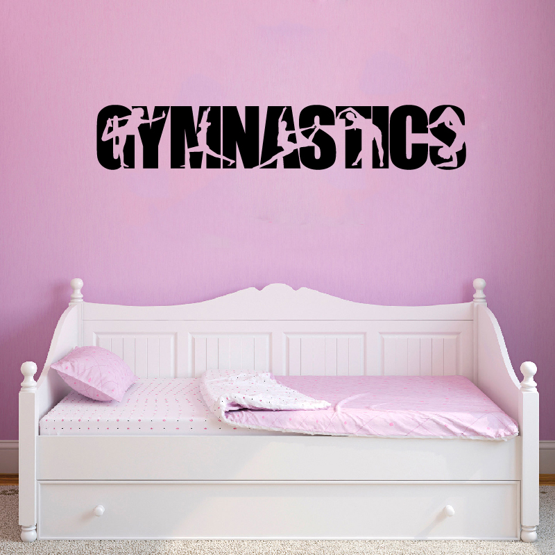 US $1.87 30% OFF|Gymnastics Vinyl Wall Art Sticker Decals Girls Bedroom  Wall Decor , Gymnast Silhouette Decal For Car Decoration-in Wall Stickers  from ...