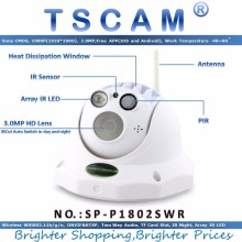 TSCAM new SP-P1802SWR Wireless Full HD 1080P 2.0MP Dome IP Camera PIR Alarm P2P TF/Micro SD Card Slot Array IR 50M ONVIF