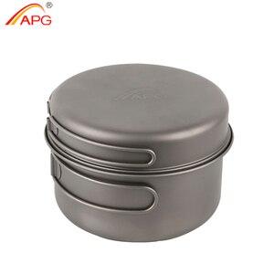Image 1 - APG 2016 newest ultralight titanium pan and outdoor camping titanium pan enhancing the body resistance