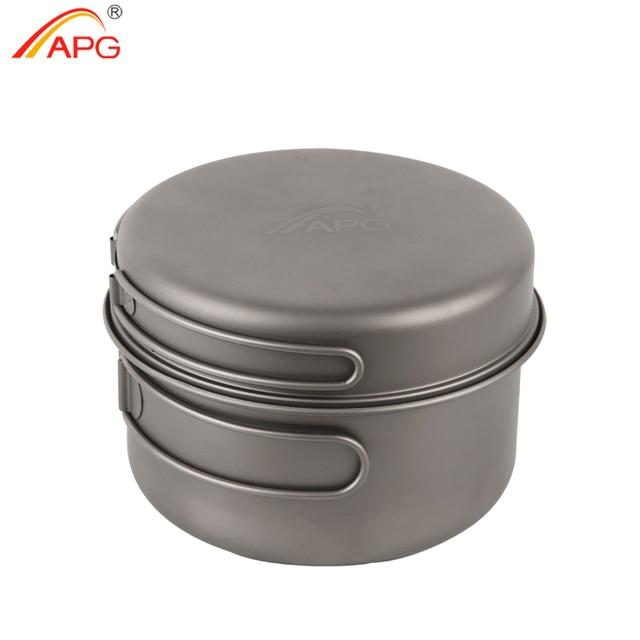 APG 2016 newest ultralight titanium pan and outdoor camping titanium pan enhancing the body resistance