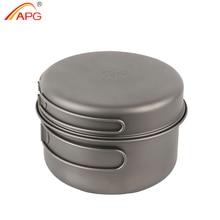 APG ultralight titanium pan and outdoor camping titanium pan enhancing the body resistance