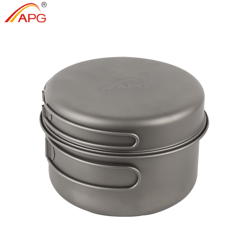 APG ultralight titanium pan and outdoor camping titanium pan enhancing the body resistance