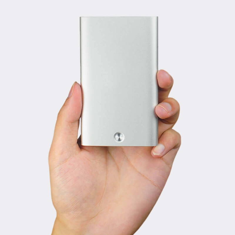 Image 3 - Original Xiaomi Youpin Mijia Rice Card Case Men Women Business Metal Wallet Card Holder Aluminum Smart Card Case Can Bank Card-in Wallet Cases from Cellphones & Telecommunications
