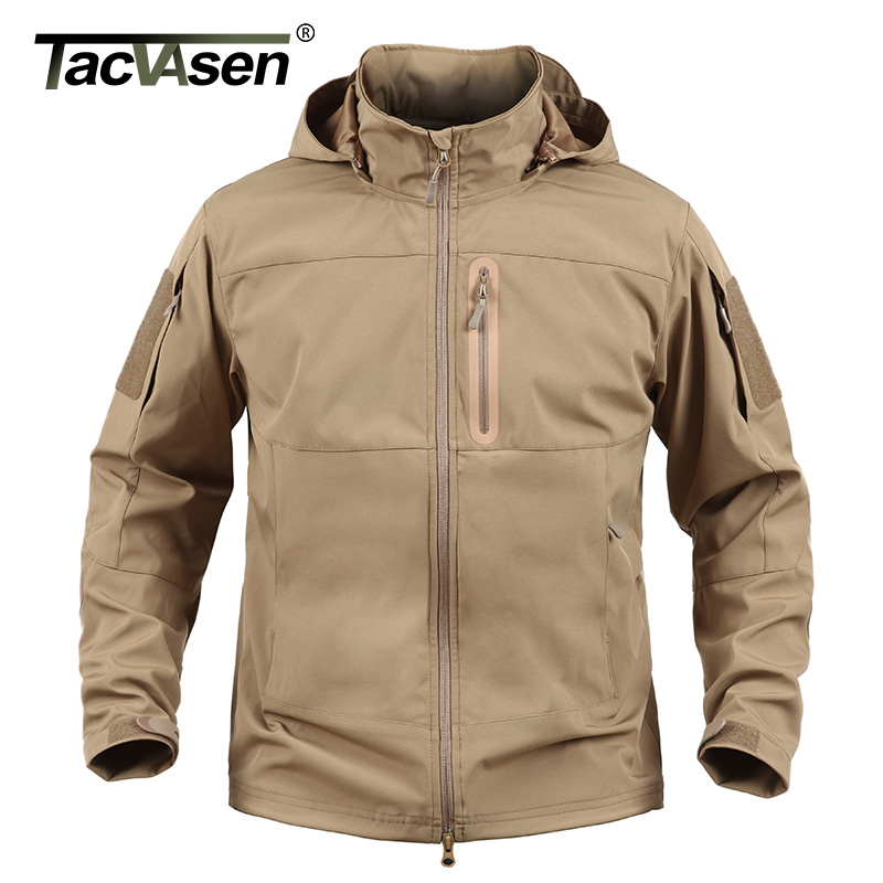 TACVASEN Hot Sale Tactical Jacket Breathable Military Army Elastic Spring Jackets Men Waterproof Jacket Man Coat