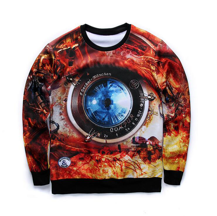 Camera Pattern 3D Sweatshirts