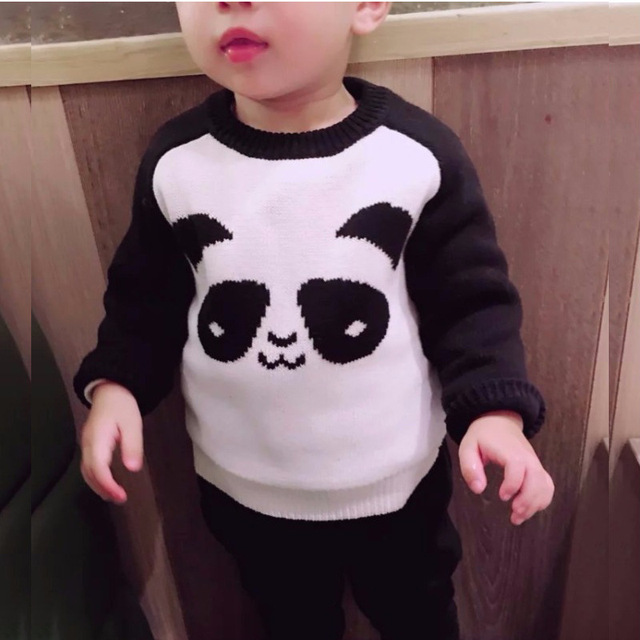 0a9e47fde Hakoona Spring Cute Boys Girls Sweaters Panda Pattern Patchwork Casual Knit  Pullovers Unisex Fashion Brand Children