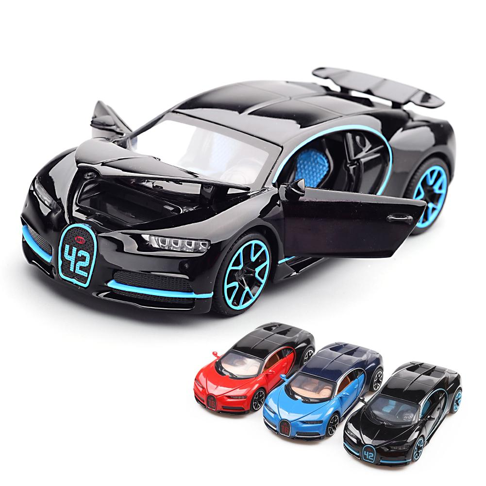 1:32 Simulation Bugatti Chiron Collection Model Alloy Cars Toy Diecast Metal Car Toys For Adults Children With Light Sound