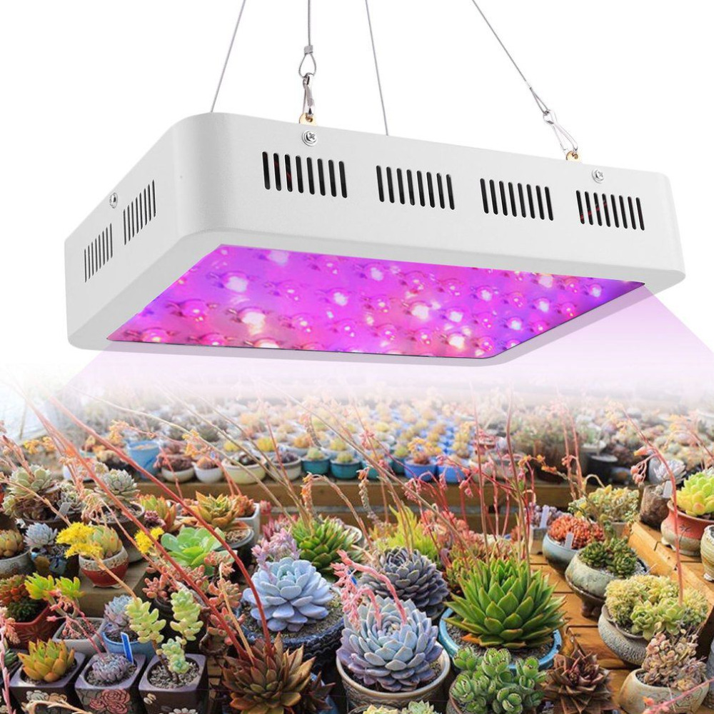 600W 60 LEDs Plant Growing Lamp Hanging Full Spectrum Grow Light with Switch Indoor Plants Vegetable Growing Hydroponics System 600w led grow light full spectrum leds plant lighting lamp for plants seedings flowers growing greenhouses 100 6w double chips