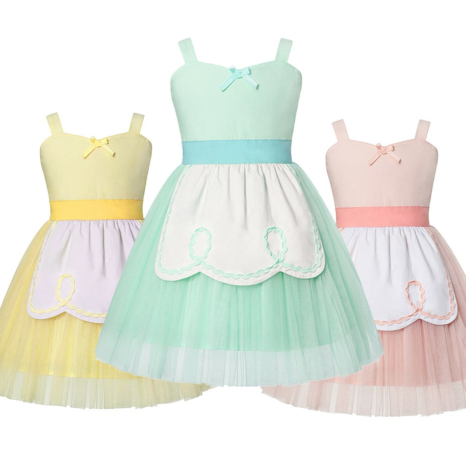 MUABABY Princess Alice Dress Up for Baby Girl Summer Alice in Wonderland Blue Fancy Costume Children Belle Birthday Clothes 1-8TMUABABY Princess Alice Dress Up for Baby Girl Summer Alice in Wonderland Blue Fancy Costume Children Belle Birthday Clothes 1-8T