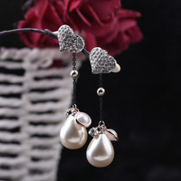 Designer Hand Inlaid Shell Pearl Earrings