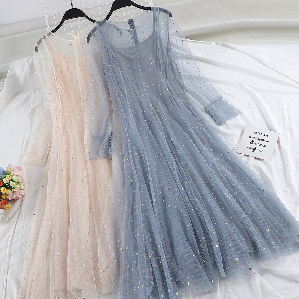 cdcaf739a9a29 Dress OLN Popular Retro ins super fire Dress first love fairy sukol girl  chic dress summer Vestidos