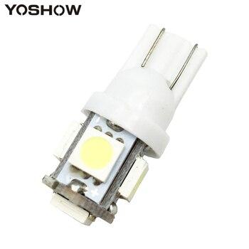 1 шт. T10 W5W 5050 5 SMD 194 168 Xenon белый/синий/красный/зеленый/желтый клин внутренней стороны Dashboard лицензии свет лампы стайлинга автомобилей