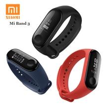 ФОТО original xiaomi mi band 3 smart wristband fitness bracelet miband band 3 big touch screen oled message heart rate time smartband