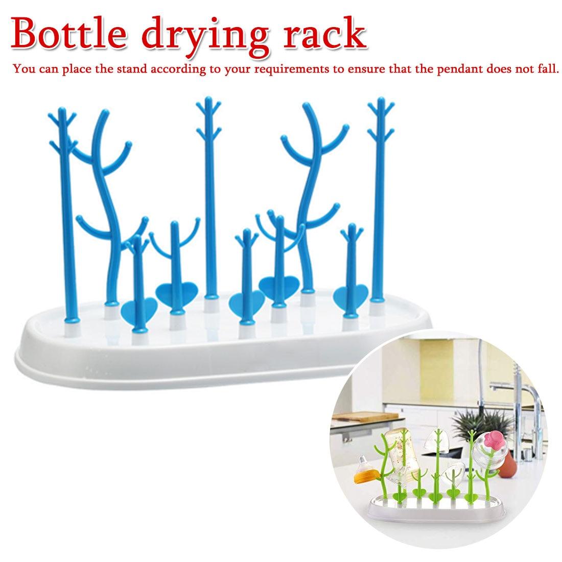 Baby Bottle Drying Rack Baby Feeding Bottles Cleaning Dryer Drainer Storage Nipple Shelf Baby Pacifier Feeding Cup Holder