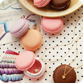 1Pc 4*4*2CM Candy Jewelry Storage Box Mini Macaron Case for Necklace Earring Package Organizer Gifts For Girls Table Decoration