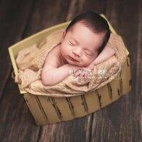 Деревянная корзина для фотосъемки новорожденных, аксессуары для фотосъемки новорожденных мальчиков и девочек