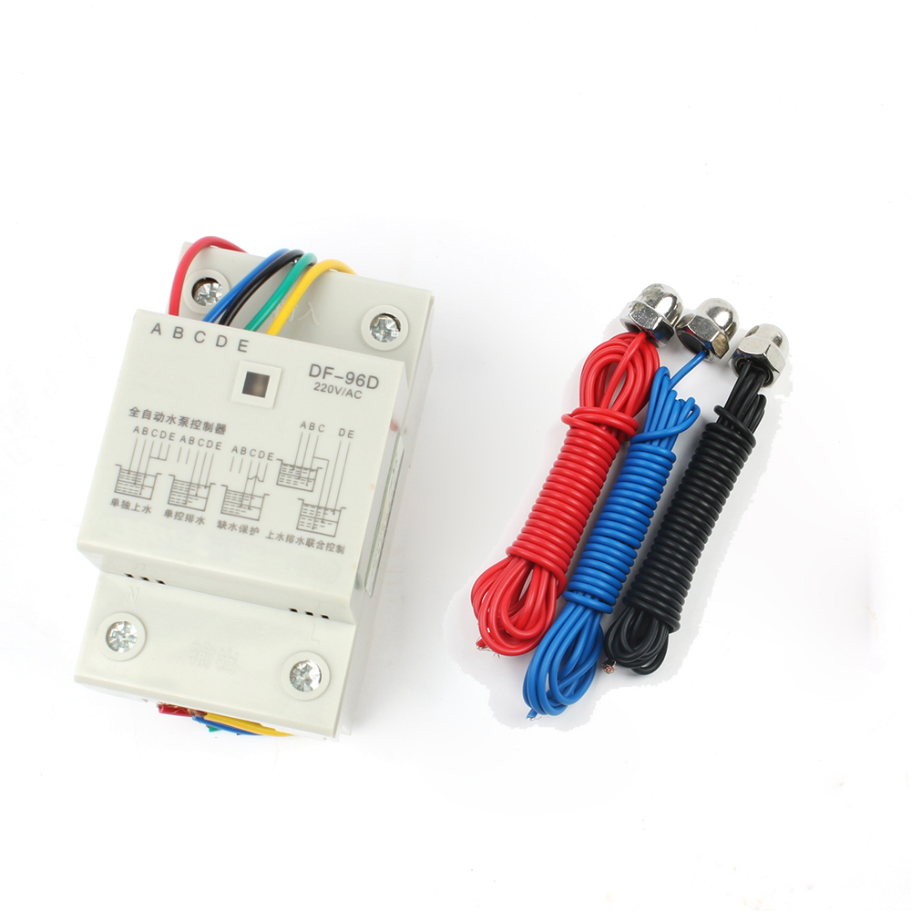 DF-96ED Automatic Water Level Controller Switch 10A 220V Water Tank Liquid Level Detection Sensor Water Pump Controller