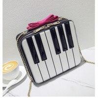 ADIYATE Fliege Klavier Umhängetaschen Billig Frauen Taschen Ketten Kleine platz Paket Bolso Mujer Kawaii Fliege Sac Ein Haupt Kupplung
