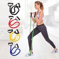 Шнур Покрытый Эспандеры с мягкими ручками Йога тросовые Фитнес тренировки спортивные полосы