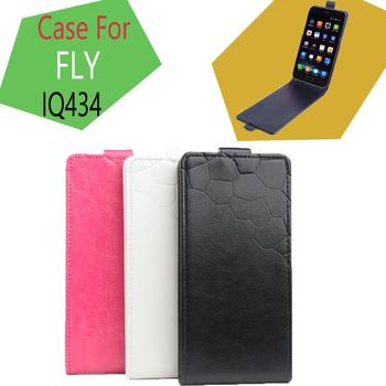 Phone case leather case for FLY IQ434 On the next Flip Cover Mobile Phone Bags. Brand Hot Sale Factory price.