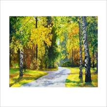No Frame Forest DIY Painting By Numbers Acrylic Paint By Numbers Unique Gift Canvas Painting For Home Decor Wall Arts 5.0(China)