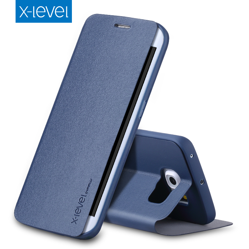 x level business style pu leather flip phone case for samsung galaxy