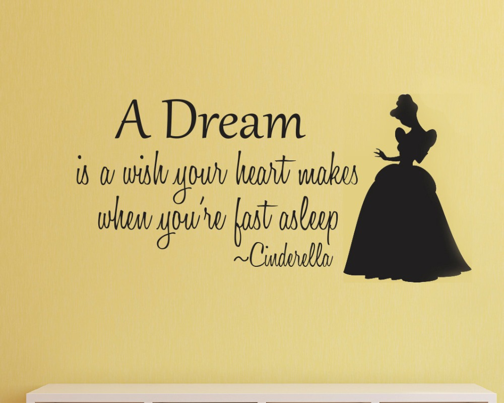 Cinderella Quotes Cinderella Wall Decal Vinyl Wall Stickers For Kids Rooms Baby