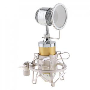 Image 4 - BM 8000 студии звукозаписи Запись конденсаторный микрофон с 3,5 мм разъем стенд держатель и позолоченный большой диафрагмой головка