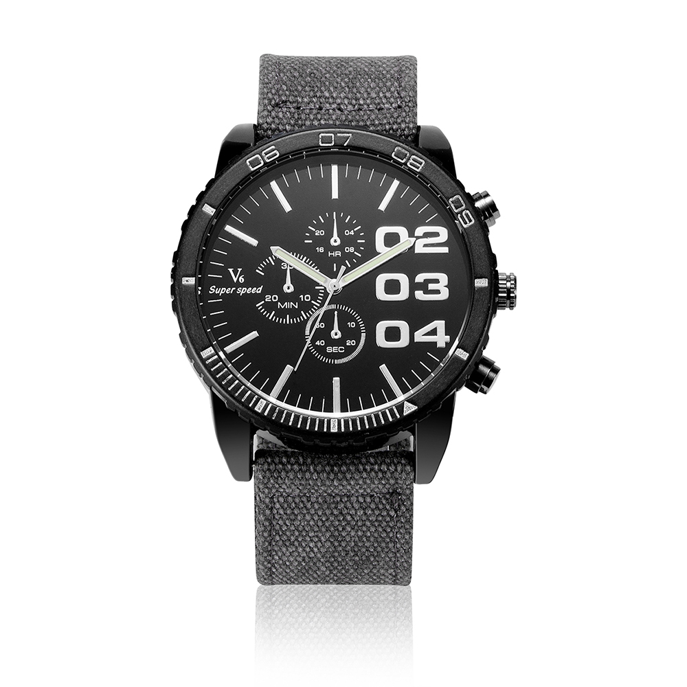 Personality Luxury Brand Sport Watch Men Nylon Strap Men s Watches Military Wristwatch Big Dial Quartz
