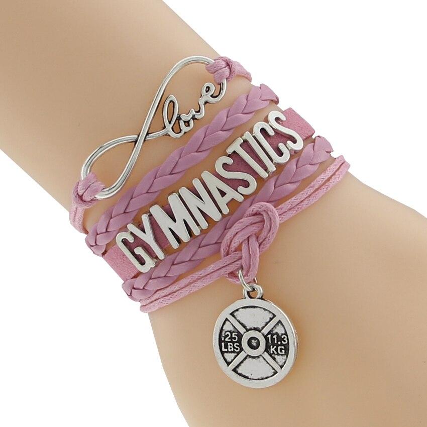 Bracelet de gymnastique amour infini meilleur cadeau pour les Fans de gymnastique gymnaste personnalisé tous les thèmes livraison directe