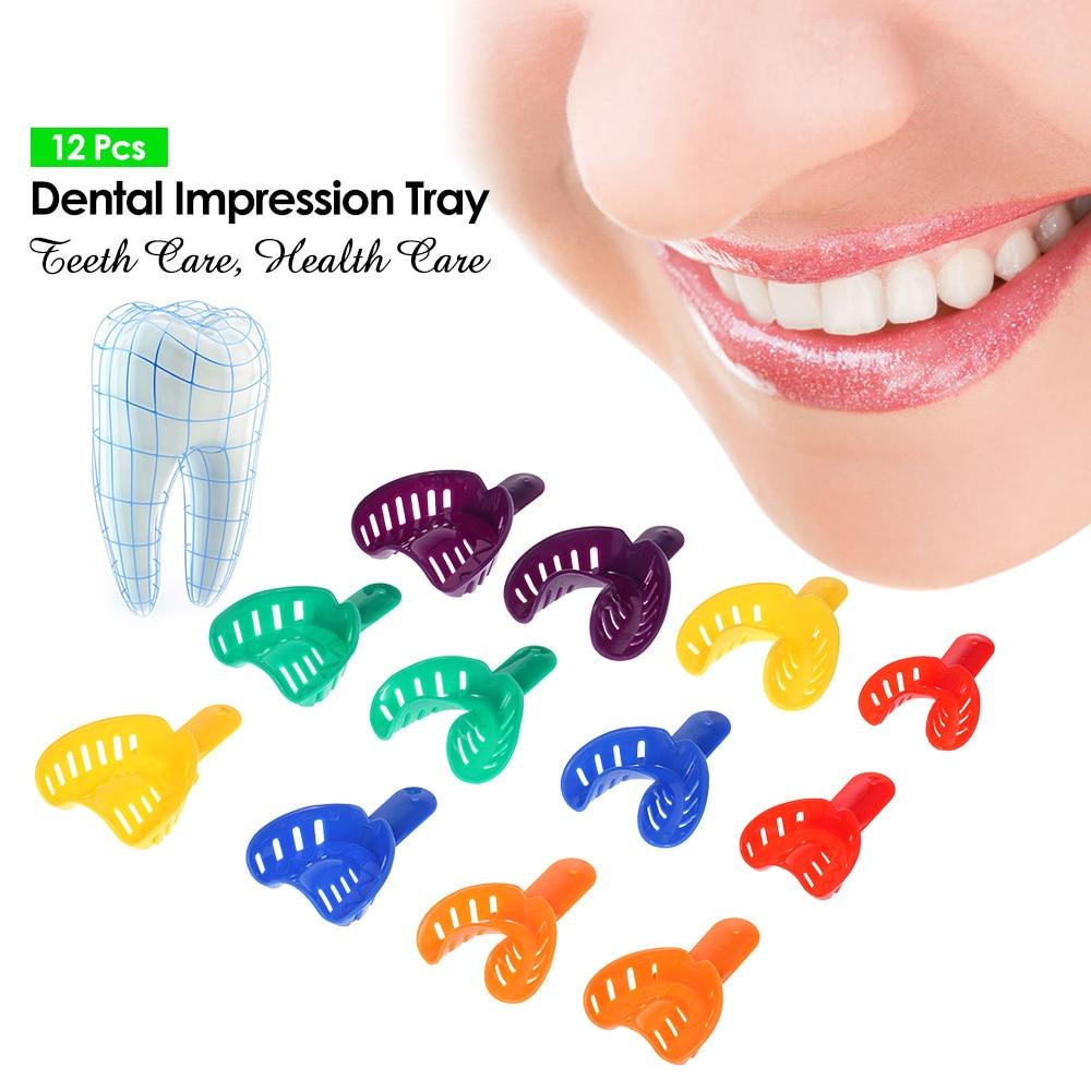 12 Pcs Plastico Dental Moldeira Dentes Forma Titular Autoclavavel