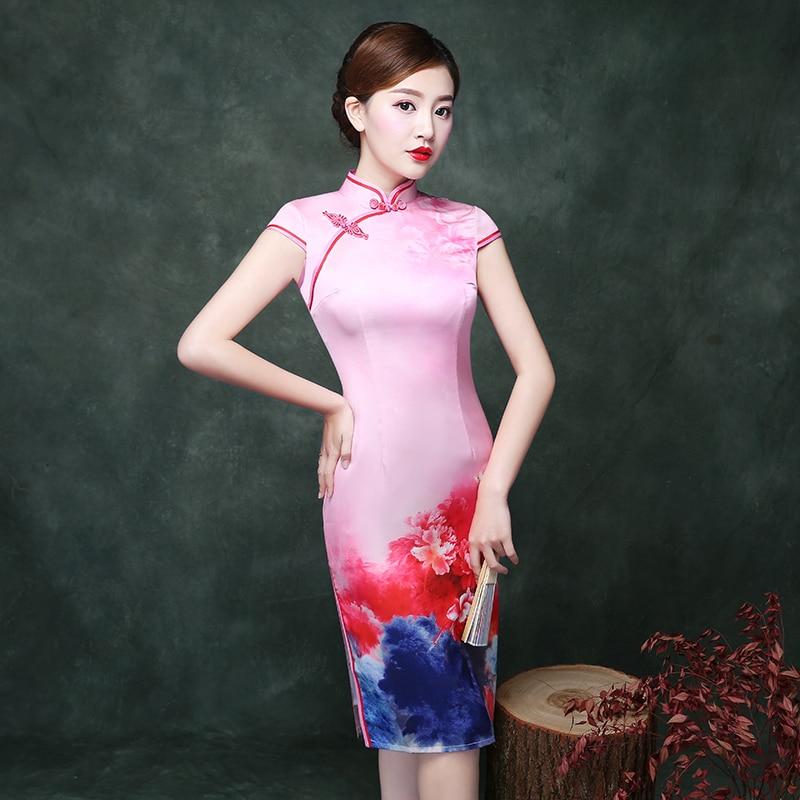 Magnífico Cheongsam Modelo De Vestido De Costura Friso - Manta de ...