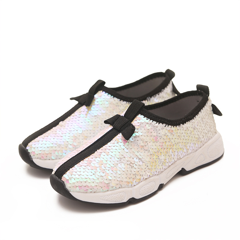 e39abf0a1 2015 New Summer Shoes European Girls Casual Sequins Breathable Cloth  Loafers Girls School Sport Sneakers School Shoes 26~30-in Sneakers from  Mother & Kids ...