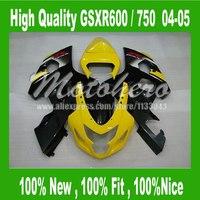 Kits del carenado Amarillo Negro para SUZUKI GSXR600 GSXR 600 K4 04 05 GSXR 750 K4 2004 2005 GSX-R600 GSX-R750 04 05 carenados