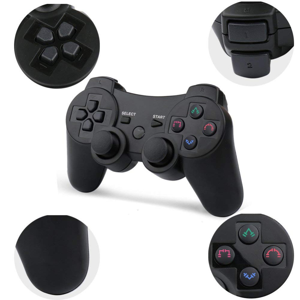 Image 3 - 2019 New arrival Wireless Game Controller with charging cable for PS3 gamepad Wireless 6 axis Double Shock-in Gamepads from Consumer Electronics