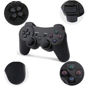 Image 2 - 2019 חדש הגעה אלחוטי משחק בקר עם טעינת כבל עבור PS3 gamepad אלחוטי 6 ציר כפול הלם