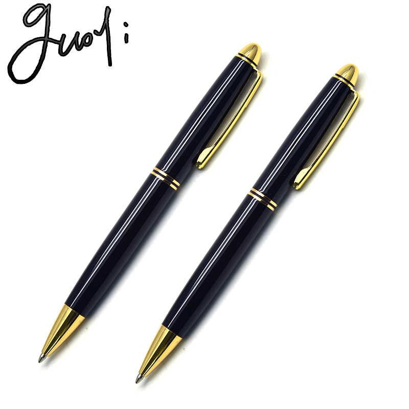 Guoyi C616 lüks ağır metal tükenmez okul için kalem öğretmen hediye öğrenme ofis kırtasiye G2 424 kalem