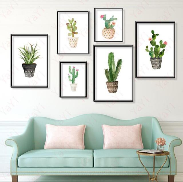 US $5.0 |Green plants living room decoration painting core Frameless  paintings garden dining room paintings bedroom hanging painting-in Painting  & ...