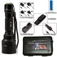 CREE C8 8000 Lumens Cree Xml T6 L2 High Power Led Flashlight DC Car Charger 1