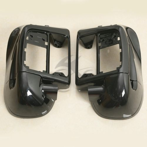 Black Painted ABS Lower Leg Vented Fairing For Harley-Davidson Touring 2014-2018 Road King Electra Street Glide FLT FLHT FLHRC shoulder cut plus size flower blouse