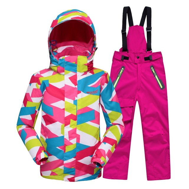 Minus 25 Degrees Children Outerwear Warm Coat Sporty Ski Suit Kids Clothes Set Waterproof Windproof Boys Girls Jackets For 7-14T