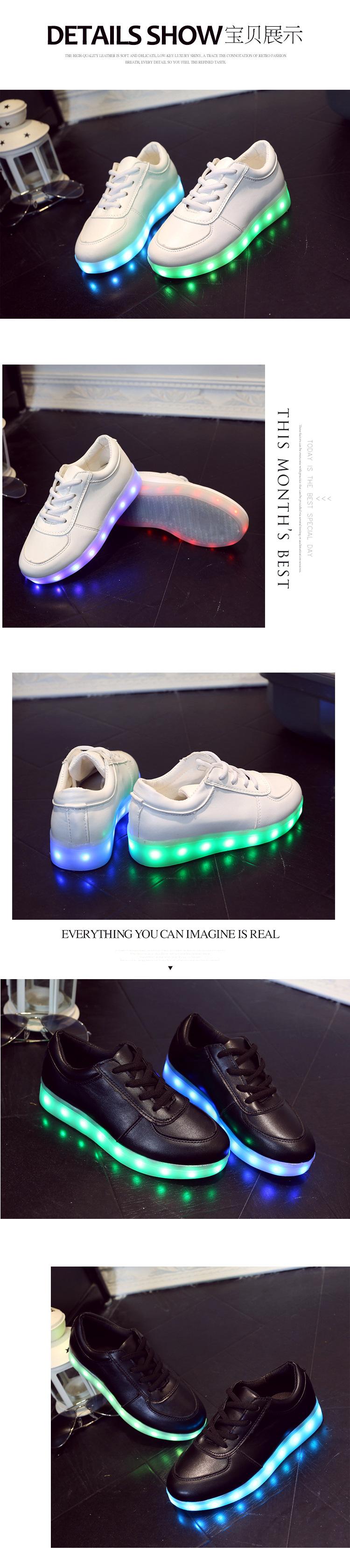 989d97b2818b7 usb childrens bright child shoes white basket led kids trainers girl ...