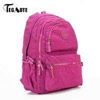 TEGAOTE Large Capacity Backpack Women Waterproof Teenage Casual School Bag Brand Designe Bagpack Ladies Travel Mochila