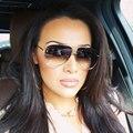 Piloto Das Mulheres Dos Homens Óculos De Sol Da Marca Designer Espelho óculos de Sol Óculos de Armação de Metal Do Vintage Legal da aviação Moda Sem Aro