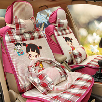 protection of car seats women cute girl cartoon auto seat covers cushion 5 seats full set universal fit automobile cover 1847