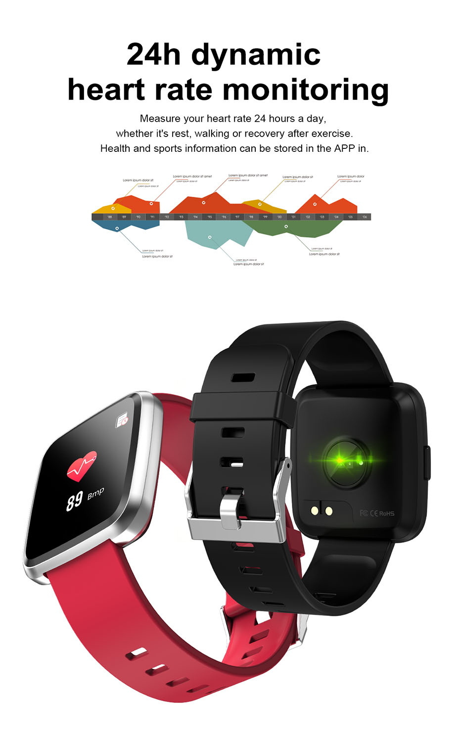COLMI CY7 PRO Smart watch Full screen touch IP67 waterproof Bluetooth Sport fitness tracker Smartwatch For IOS Android Phone 6